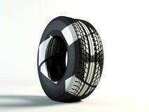 Reciclaje del neumático ilustración del vector