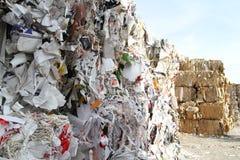 Reciclaje del papel Imagen de archivo libre de regalías