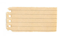 Reciclaje del pedazo de papel alineado. Fotos de archivo libres de regalías
