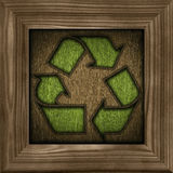 Reciclaje del símbolo 3d Imágenes de archivo libres de regalías