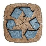 Reciclaje del símbolo 3d Fotografía de archivo
