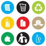 Reciclaje del sistema del icono Imágenes de archivo libres de regalías