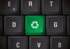 Reciclaje del teclado Imagenes de archivo