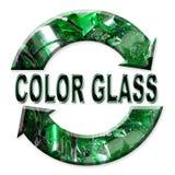 Reciclaje del vidrio del color Foto de archivo libre de regalías