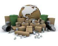 Reciclaje global Imagen de archivo libre de regalías