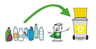 Reciclaje plástico Fotografía de archivo libre de regalías