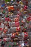Reciclaje plástico de botellas Imagen de archivo libre de regalías