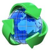 Reciclaje y concepto de la protección del medio ambiente Fotos de archivo libres de regalías
