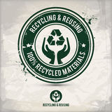 Reciclaje y reutilización Imagen de archivo libre de regalías