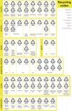 Reciclando códigos Fotografia de Stock