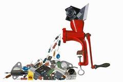 Reciclando a eletrônica velha Foto de Stock