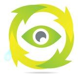 Reciclando o ícone Imagens de Stock Royalty Free