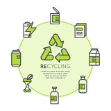 Reciclando o conceito ecológico ilustração do vetor