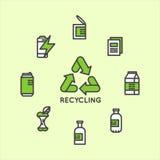 Reciclando o conceito ecológico ilustração royalty free