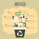 Reciclando o projeto liso Imagem de Stock