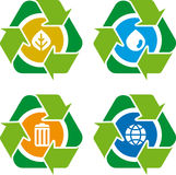Reciclar 01 (vector). Clean environment - conceptual recycling symbol stock illustration
