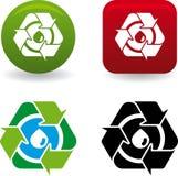 Reciclar gota (vector) Stock Image