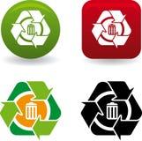 Reciclar papelera (vector) Royalty Free Stock Image