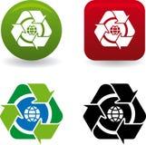 reciclar vektor för mundo stock illustrationer