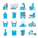 Recicle ícones, ícones da gestão de resíduos ilustração do vetor