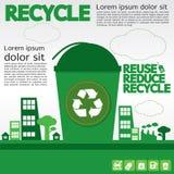 Recicle. ilustración del vector