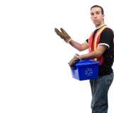Recicle al trabajador Fotografía de archivo libre de regalías
