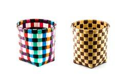 Recicle a cesta de weave Foto de Stock