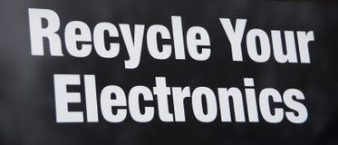 Recicle e reutilize a eletrônica fotos de stock