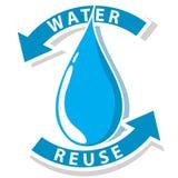 Recicle el agua stock de ilustración