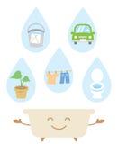 Recicle el agua de baño Fotos de archivo