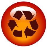 Recicle el botón o el icono del Web Imagenes de archivo