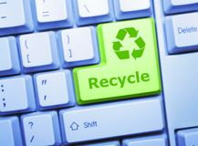 Recicle el clave imágenes de archivo libres de regalías