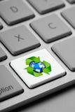 Recicle el clave de teclado de ordenador imagen de archivo
