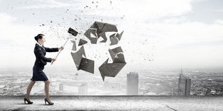 Recicle el concepto foto de archivo libre de regalías