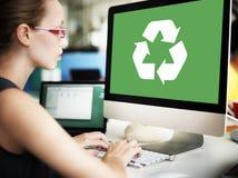 Recicle el concepto verde de Eco de la protección del ambiente Fotografía de archivo libre de regalías