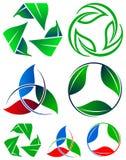 Recicle el conjunto de la insignia Imagen de archivo libre de regalías