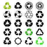 Recicle el conjunto de la insignia Fotos de archivo