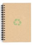 Recicle el cuaderno Fotografía de archivo libre de regalías
