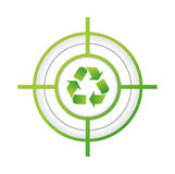 recicle el diseño del ejemplo del concepto de la muestra de la blanco Fotos de archivo libres de regalías