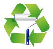 Recicle el diseño del ejemplo del rodillo de pintura Fotografía de archivo libre de regalías