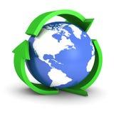 Recicle el globo Foto de archivo