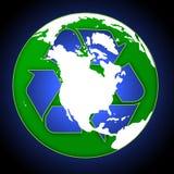 Recicle el globo Fotos de archivo