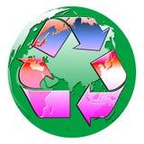 Recicle el globo ilustración del vector