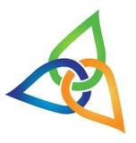Recicle el grupo de logotipo unido las hojas Imagen de archivo libre de regalías