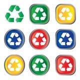 Recicle el icono Fotografía de archivo libre de regalías