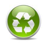 Recicle el icono del símbolo Foto de archivo libre de regalías
