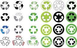 Recicle el icono fijado - aliste Imagen de archivo