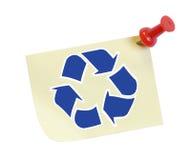 Recicle el mensaje Imagen de archivo libre de regalías