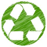Recicle el movimiento del cepillo del verde de las flechas stock de ilustración