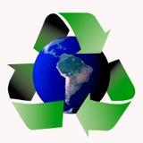 Recicle el mundo stock de ilustración